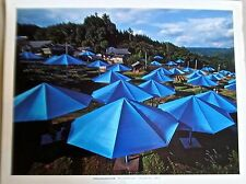 Christo & Jean-Claude -The Umbrellas Project -Blue Color-Japan Poster Reprint