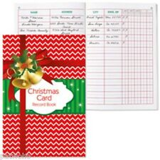 CHRISTMAS CARD RECORD ADDRESS BOOK NEW VHTF 5 YEAR BELLS GIFT PKG FREE SHIPPING