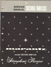 Marantz Service Manual Model SR3100 MR1135 Original Printed Factory Repair Book