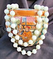 """31"""" Opera Length Jade Jadeite Necklace Polished 8 mm Beads With 14K Gold Spacers"""