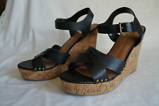 DV By Dolce Vita Black  Jex Wedge Sandal Sz 9 MSRP $89.00