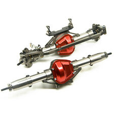 CNC Alloy Front & Rear Axle For 1/10 Scale RC Crawler AXIAL SCX10 CC01 RC Cars