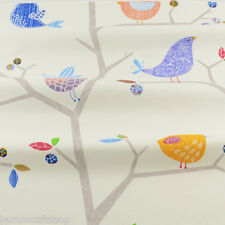 Bird Song Cute Cotton Fabric zakka cartoon birds DIY sewing cloth quilting craft