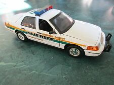 1/18 Broward County Sheriff FL Ford Crown Victoria w/ Flashing Lightbar & Siren