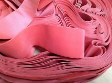 "5 Yards 2 1/4"" Pink HANK FRENCH Vintage Silk Rayon Satin Back Velvet Ribbon"