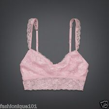NWT HOLLISTER WOMENS GILLY HICKS PINK SHINE LACE LONG LINE BRALETTE BRA SIZE L