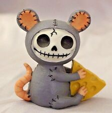 Furry Bones Gray and Pink Munster Mouse Skeleton Animal Figurine Free S&H