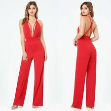BEBE RED DOUBLE STRAPPY PLUNGE JUMPSUIT ROMPER NEW $159 SMALL S