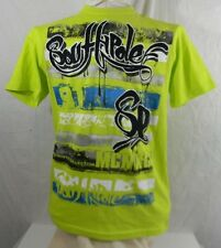 South Pole Authentic Collection T shirt Mens S 100% Cotton Lime Green Graphic