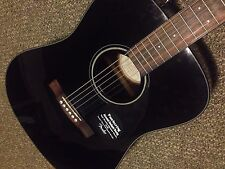 Right-Handed Fender CD-60 Standard Dreadnought Acoustic Guitar - Black