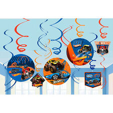 Hot Wheels Wild Racer Hanging Swirl Decorations Birthday Party Supplies Danglers