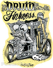 Druid Finkness STICKER Decal Motorcycle Art Von Franco VF41 Roth Like Rat Fink