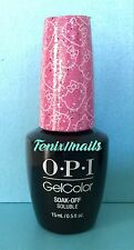 OPI GelColor HELLO KITTY H86 STARRY-EYED FOR DEAR DANIEL glitter pink gel color