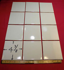 12  Vintage… NOS…White Field Tile…4-3/8 inch wide…Glossy Finish…Robertson Co.