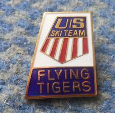 USA SKI JUMPING FLYING TEAM 1970's ENAMEL PIN BADGE