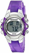 Timex T5K816, Women's Marathon Purple Resin Watch, Indiglo, Alarm, Stopwatch