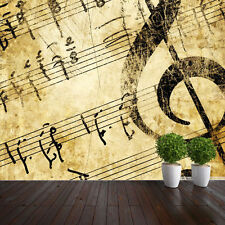 WALLPAPER ANTIQUE PAPER MUSICAL NOTES WALL PAPER 300cm wide 240cm tall WM291