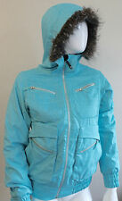 Burton DryRide Faux Fur Trim Blue Ladies Snow Boarding Coat Size Small Stunning