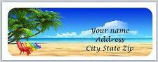 30 Personalized Return Address Labels Beach Scene Buy 3 get 1 free(c 858)