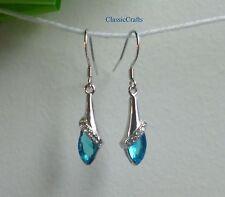 18KGP 925 sterling silver drop AAA Zircon dangle earrings