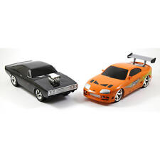 Fast and Furious Remote Control Car Two Pack Charger R/T Toyota Supra 1:16 Scale