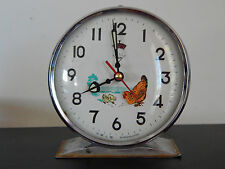 VINTAGE WIND-UP ALARM CLOCK , WORKS - Hen & Chicks