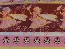 RPG70 RARE Tina Givens Flower Bird Bug Fairy Tip Toes  Cotton Quilting Fabric