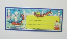 ADESIVO KINDER FERRERO SQUALIBABA 1995 Old Original Sticker (cm 10 x 4)