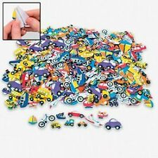 New 500 Assorted Transportation Shapes Foam Self Adhesive Craft Stickers Art Sup