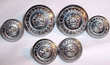 Old Set of 6 Cheshire Police Constabulary Buttons - Obsolete - REF: 942