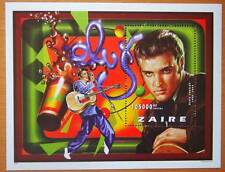 ELVIS PRESLEY - ZAIRE MINI STAMP SHEET - ELVIS THROUGH THE YEARS- 1935 - 1977