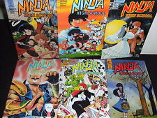 NINJA HIGH SCHOOL ETERNITY 1988 SPECIAL ED MANGA COMIC SET 6 ISSUES #1-5+ VF/NM