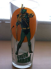 DC: SUPER SERIES VINTAGE PEPSI GLASS, GREEN ARROW, 1976, NEW/UNUSED CONDITION!!!