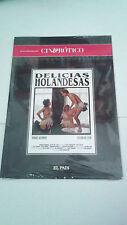 """DVD """"DELICIAS HOLANDESAS"""" PAUL VERHOEVEN RONNIE BIERMAN SYLVIA DE LEUR PRECINTAD"""