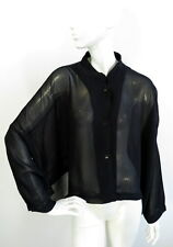 The Masai Clothing Company Womens Black Cropped Top Blouse size L