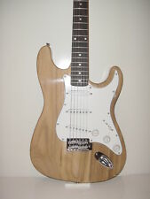 NEW Full Size  Natural 6 String Strat Style  Electric Guitar with Gig Bag Case