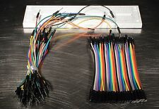 Male Female Jumper Wires Cable 700 Point Breadboard for Arduino Kit US Seller