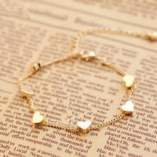 Sexy Gold Chain Anklet Heart Love Bracelet Barefoot Sandal Beach Foot Jewelry