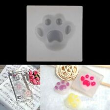 DIY Dog Cat Paw Cabochon Silicone Mold Mould Pendant Resin Jewelry Making Craft