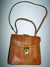 BORSA VERO COCCODRILLO VTG '70 GENUINE CROCODILE SKIN HAND BAG
