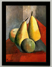 Pablo Picasso Pears and apples canvas print, framed, giclee 8.3X12