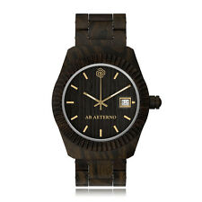 AB Aeterno Storm 100% Bois Santal Noir Swiss Movement Quartz Homme Montre