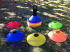 60 PACK SPORTS SOCCER TRAINING CONES Kit for Asian Cup AFL PERSONAL FITNESS