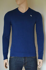 NEW Abercrombie & Fitch Lake Road V-Neck Sweater Cashmere Jumper Navy Blue XL
