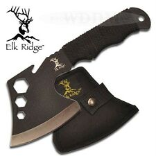Elk Ridge Black Full Tang Hatchet Throwing Axe Camping Hunting Knife w/Tools