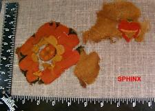 468COP) Pair of very colorful Coptic textile fragments probably from same media.