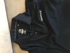 Yahoo Yahoo.com  cutter buck   black  golf polo    shirt adult men's Small NEW