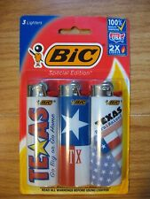 Bic Lighters TEXAS Special Edition 3 Pack Star