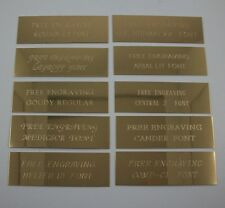 "Custom Engraved 3""x1""  Brass Trophy, Sign Name Plate ."