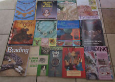 Lot 13 BEAD BEADWORK Books Beading Tassel making Button Projects Jewelry Weaving